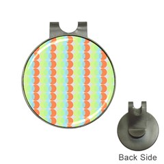 Circles Orange Blue Green Yellow Hat Clips with Golf Markers