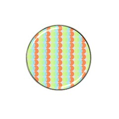 Circles Orange Blue Green Yellow Hat Clip Ball Marker