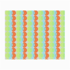 Circles Orange Blue Green Yellow Small Glasses Cloth
