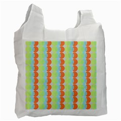 Circles Orange Blue Green Yellow Recycle Bag (Two Side)