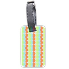 Circles Orange Blue Green Yellow Luggage Tags (One Side)