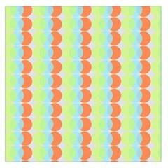 Circles Orange Blue Green Yellow Large Satin Scarf (Square)