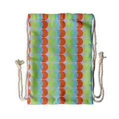 Circles Orange Blue Green Yellow Drawstring Bag (small)