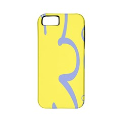 Doodle Shapes Large Flower Floral Grey Yellow Apple iPhone 5 Classic Hardshell Case (PC+Silicone)