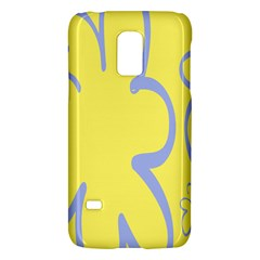Doodle Shapes Large Flower Floral Grey Yellow Galaxy S5 Mini