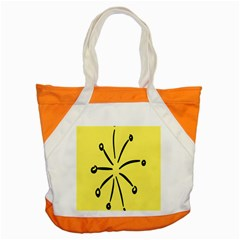 Doodle Shapes Large Line Circle Black Yellow Accent Tote Bag