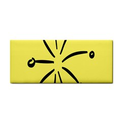 Doodle Shapes Large Line Circle Black Yellow Cosmetic Storage Cases