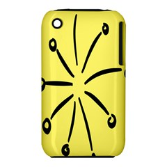 Doodle Shapes Large Line Circle Black Yellow iPhone 3S/3GS