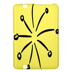 Doodle Shapes Large Line Circle Black Yellow Kindle Fire HD 8.9