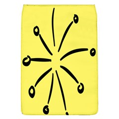 Doodle Shapes Large Line Circle Black Yellow Flap Covers (L)