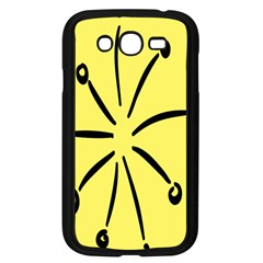 Doodle Shapes Large Line Circle Black Yellow Samsung Galaxy Grand DUOS I9082 Case (Black)