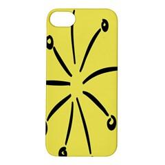 Doodle Shapes Large Line Circle Black Yellow Apple iPhone 5S/ SE Hardshell Case