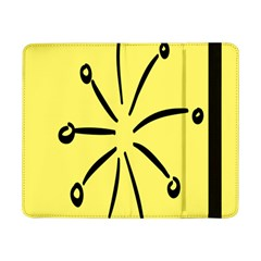 Doodle Shapes Large Line Circle Black Yellow Samsung Galaxy Tab Pro 8.4  Flip Case
