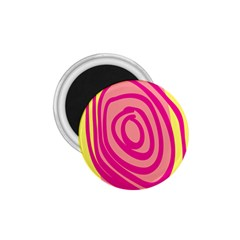 Doodle Shapes Large Line Circle Pink Red Yellow 1.75  Magnets