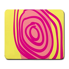 Doodle Shapes Large Line Circle Pink Red Yellow Large Mousepads