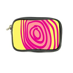 Doodle Shapes Large Line Circle Pink Red Yellow Coin Purse