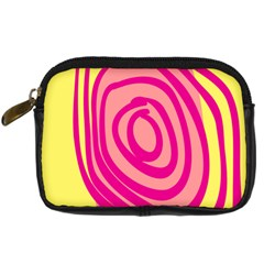 Doodle Shapes Large Line Circle Pink Red Yellow Digital Camera Cases