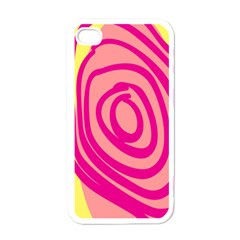 Doodle Shapes Large Line Circle Pink Red Yellow Apple iPhone 4 Case (White)