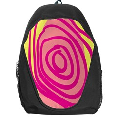 Doodle Shapes Large Line Circle Pink Red Yellow Backpack Bag