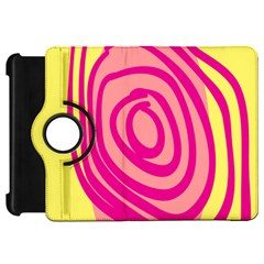 Doodle Shapes Large Line Circle Pink Red Yellow Kindle Fire HD 7