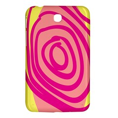 Doodle Shapes Large Line Circle Pink Red Yellow Samsung Galaxy Tab 3 (7 ) P3200 Hardshell Case