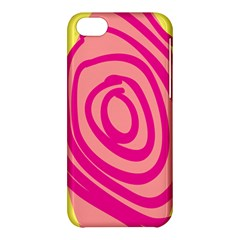 Doodle Shapes Large Line Circle Pink Red Yellow Apple iPhone 5C Hardshell Case