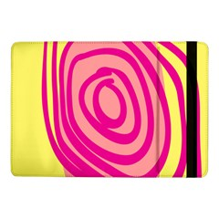 Doodle Shapes Large Line Circle Pink Red Yellow Samsung Galaxy Tab Pro 10.1  Flip Case