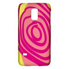 Doodle Shapes Large Line Circle Pink Red Yellow Galaxy S5 Mini