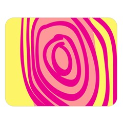 Doodle Shapes Large Line Circle Pink Red Yellow Double Sided Flano Blanket (Large)