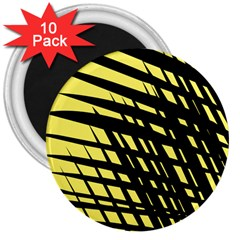 Doodle Shapes Large Scratched Included 3  Magnets (10 Pack)