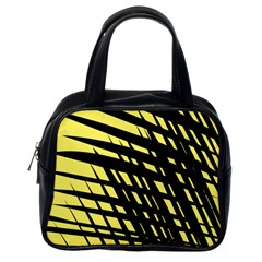 Doodle Shapes Large Scratched Included Classic Handbags (One Side)
