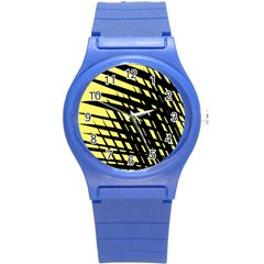 Doodle Shapes Large Scratched Included Round Plastic Sport Watch (S)