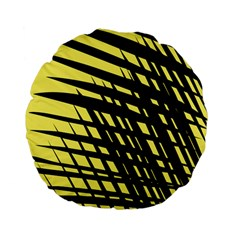 Doodle Shapes Large Scratched Included Standard 15  Premium Flano Round Cushions