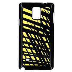 Doodle Shapes Large Scratched Included Samsung Galaxy Note 4 Case (Black)