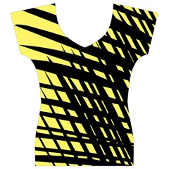 Doodle Shapes Large Scratched Included Women s V-Neck Cap Sleeve Top