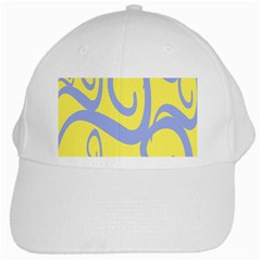 Doodle Shapes Large Waves Grey Yellow Chevron White Cap