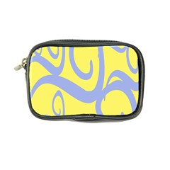 Doodle Shapes Large Waves Grey Yellow Chevron Coin Purse