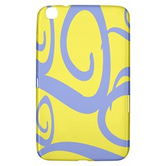 Doodle Shapes Large Waves Grey Yellow Chevron Samsung Galaxy Tab 3 (8 ) T3100 Hardshell Case