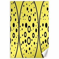 Easter Egg Shapes Large Wave Black Yellow Circle Dalmation Canvas 20  x 30