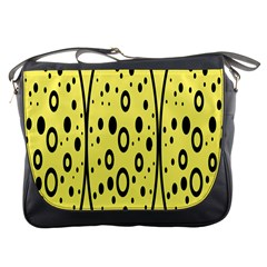 Easter Egg Shapes Large Wave Black Yellow Circle Dalmation Messenger Bags