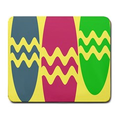 Easter Egg Shapes Large Wave Green Pink Blue Yellow Large Mousepads