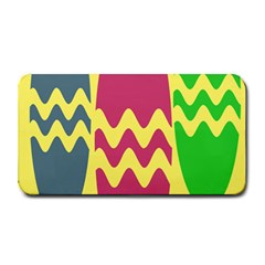 Easter Egg Shapes Large Wave Green Pink Blue Yellow Medium Bar Mats
