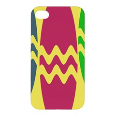 Easter Egg Shapes Large Wave Green Pink Blue Yellow Apple iPhone 4/4S Hardshell Case