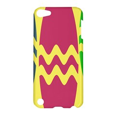 Easter Egg Shapes Large Wave Green Pink Blue Yellow Apple iPod Touch 5 Hardshell Case