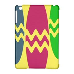 Easter Egg Shapes Large Wave Green Pink Blue Yellow Apple iPad Mini Hardshell Case (Compatible with Smart Cover)
