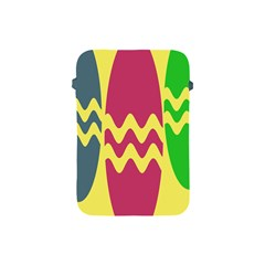Easter Egg Shapes Large Wave Green Pink Blue Yellow Apple iPad Mini Protective Soft Cases