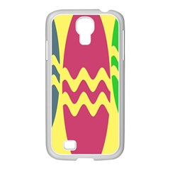 Easter Egg Shapes Large Wave Green Pink Blue Yellow Samsung GALAXY S4 I9500/ I9505 Case (White)