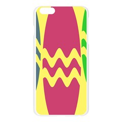 Easter Egg Shapes Large Wave Green Pink Blue Yellow Apple Seamless iPhone 6 Plus/6S Plus Case (Transparent)