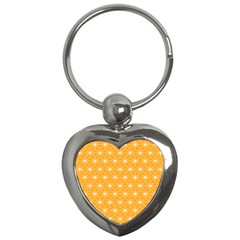 Yellow Stars Light White Orange Key Chains (heart)