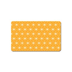 Yellow Stars Light White Orange Magnet (name Card)